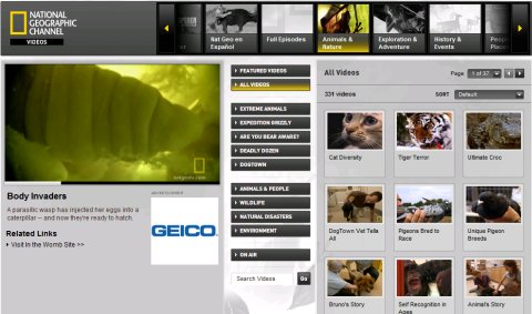 Videoteca de National Geographic USA