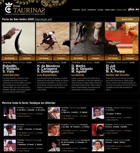 Ferias Taurinas en plus.es