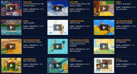 Nuevos vídeos infantiles en TVE a la carta