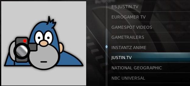 Plugin justin.tv en XBMC