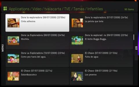 Vídeos infantiles de tvalacarta en Boxee