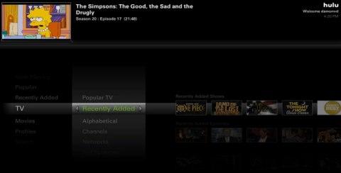 Hulu Desktop en acción