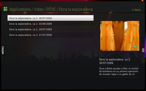 Vídeos de un programa