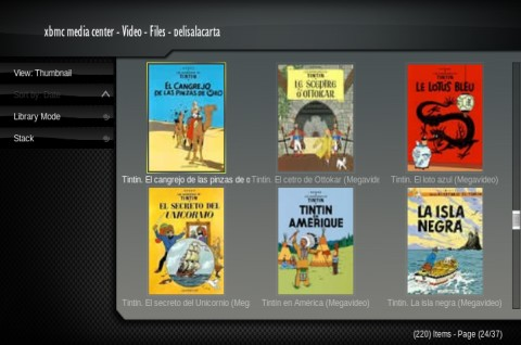 Tintin en Cinetube