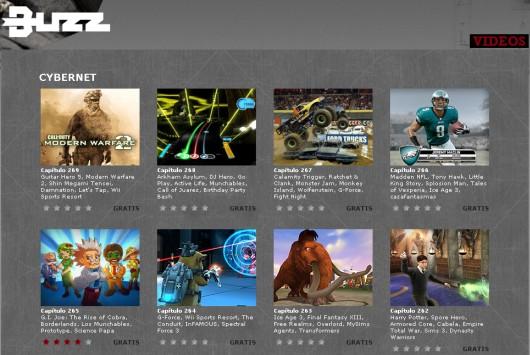 Listado de vídeos de un programa