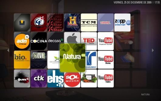Canales de Telebision tras una instalación limpia