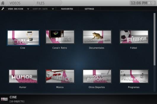 Programas de Plus TV con su icono