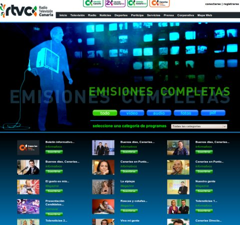 Emisiones completas renovadas en rtvc.es