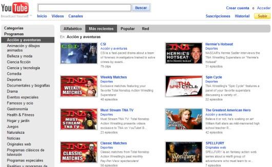 Series en YouTube