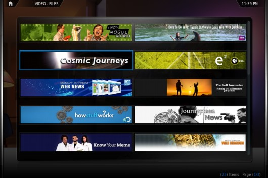 Series de YouTube con el plugin YouTube Shows en XBMC