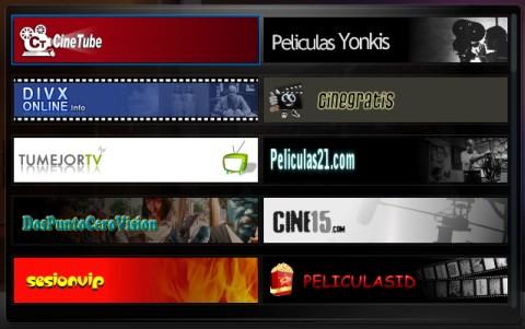 Logos de canales en formato horizontal