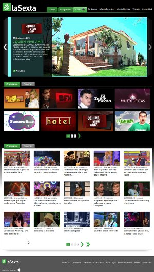 Home de La Sexta TV (beta)