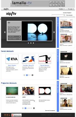 Página principal de xip/tv