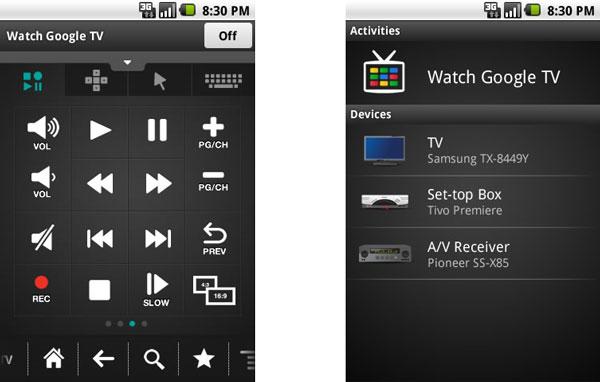 Mando a distancia táctil para Google TV