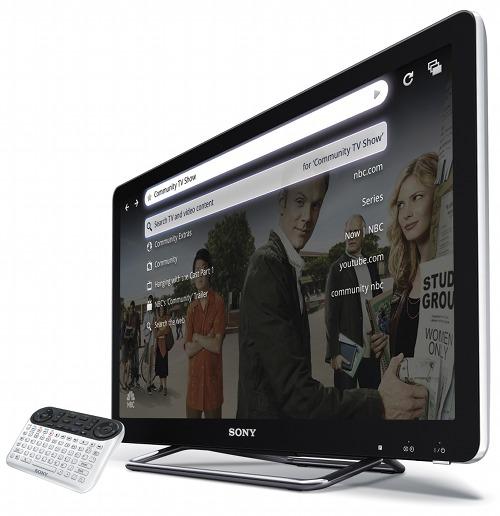 Televisión Sony Google TV con mando a distancia