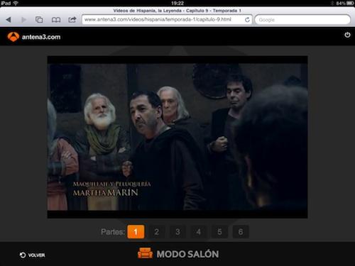 Hispania en el iPad