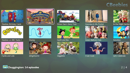 TunerFree MCE - Lista de programas de CBeebies (UK)