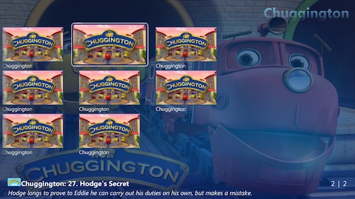 TunerFree MCE - Chuggington en la cadena CBeebies (UK)