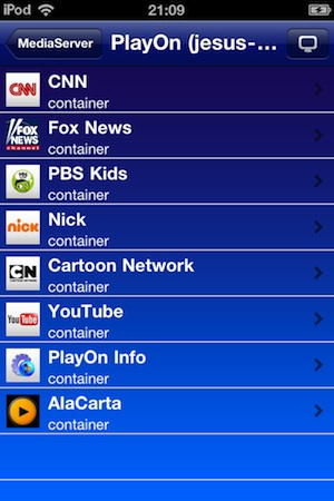 pelisalacarta en LMPlayer para iPod