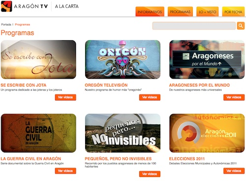 Programas de Aragón TV a la carta