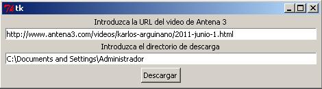 Introduce la URL de la página de Antena 3 donde está el vídeo