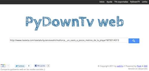 PyDownTv web