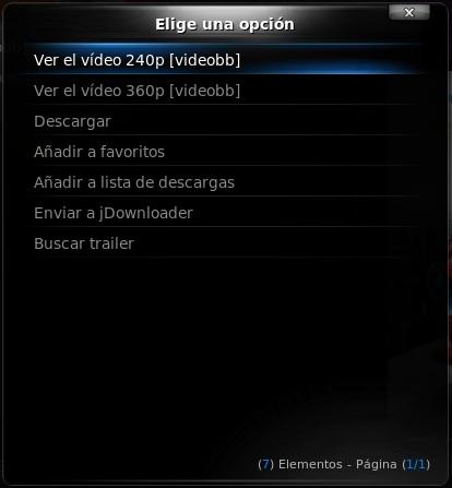 Un vídeo en VideoBB