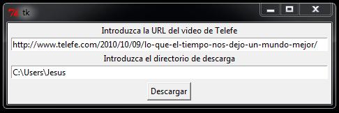 Herramienta para descargar vídeos de Telefe