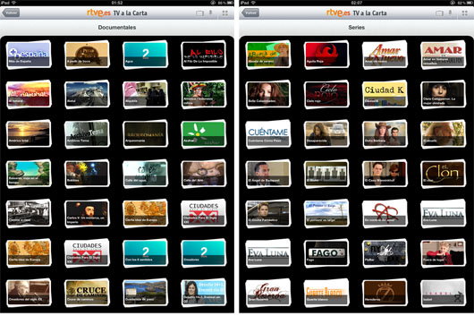 Documentales y series de rtve.es en el iPad