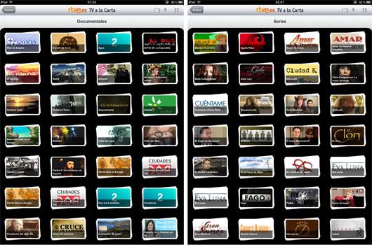 Documentales y series de rtve.es en el iPad