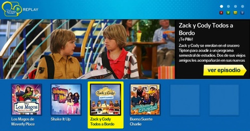 Portada de Disney Channel Replay en una Samsung Smart TV